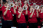 Wisconsin Badgers band plays during an NCAA college women's basketball game against the Duke Blue Devils during the ACC/Big Ten Challenge at the Kohl Center in Madison, Wisconsin on December 2, 2010. Duke won 59-51. (Photo by David Stluka)