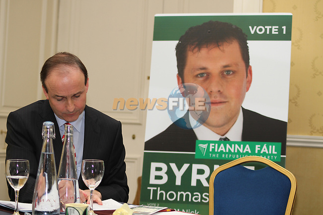 Micheál Martin and Thomas Byrne at the Fianna Fail Rally in The Headfort Arms, Kells...(Photo credit should read Jenny Matthews www.newsfile.ie)....This Picture has been sent you under the conditions enclosed by:.Newsfile Ltd..The Studio,.Millmount Abbey,.Drogheda,.Co Meath..Ireland..Tel: +353(0)41-9871240.Fax: +353(0)41-9871260.GSM: +353(0)86-2500958.email: pictures@newsfile.ie.www.newsfile.ie.