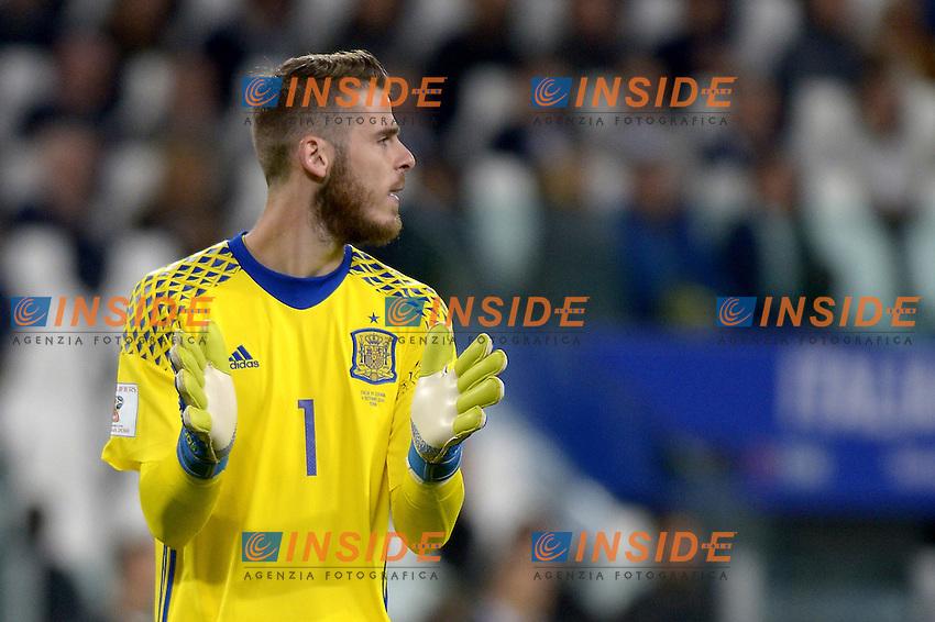 David De Gea Spain,<br /> Torino 06-10-2016 Juventus Stadium <br /> World Cup Qualifiers Italy - Spain / Italia - Spagna. Foto Filippo Alfero / Insidefoto