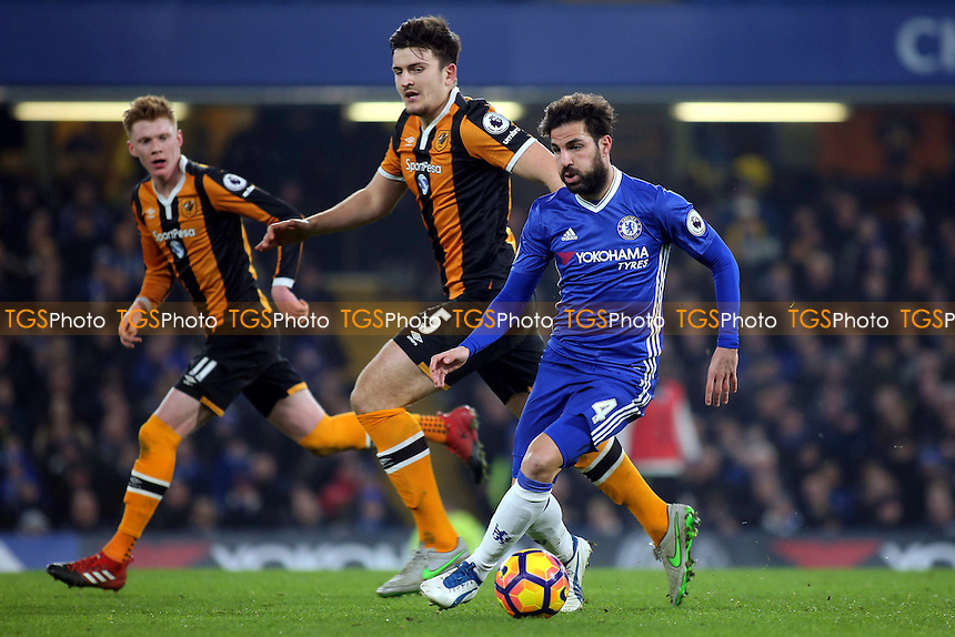 Cesc Fabregas of Chelsea in action during Chelsea vs Hull City, Premier League Football at Stamford Bridge on 22nd January 2017