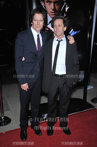 "Kevin Bacon & producer Brian Grazer (right) at the Los Angeles premiere of their new movie ""Frost/Nixon"" at the Academy's Samuel Goldwyn Theatre, Beverly Hills..November 24, 2008  Los Angeles, CA.Picture: Paul Smith / Featureflash"