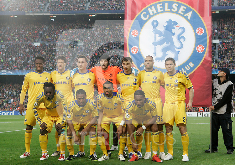 Chelsea's team photo during the UEFA Champions League match.April 28 2009. (ALTERPHOTOS/Acero).