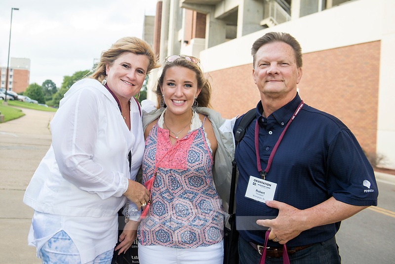 Orientation for incoming students and their parents: outside Davis Wade Stadium.<br />  (photo by Megan Bean / &copy; Mississippi State University)