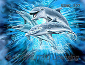 Steven-Michael, REALISTIC ANIMALS, REALISTISCHE TIERE, ANIMALES REALISTICOS, paintings+++++,USMG107,#a#, EVERYDAY ,puzzles,maritime,underwater,dolphins