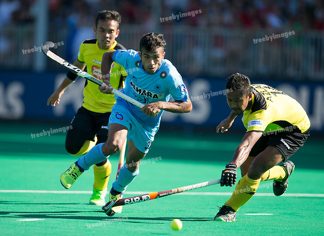 01/07/2015<br /> HWL Semi Final Antwerp Belgium 2015<br /> India v Malaysia Men<br /> Chandanda Thimmaiah<br /> Photo: Grant Treeby