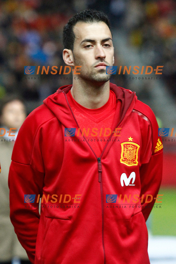 Spain's Sergio Busquets during FIFA World Cup 2018 Qualifying Round match. <br /> Gijon 24-03-2017 Stadio El Molinon <br /> Qualificazioni Mondiali <br /> Spagna - Israele <br /> Foto Acero/Alterphotos/Insidefoto <br /> ITALY ONLY
