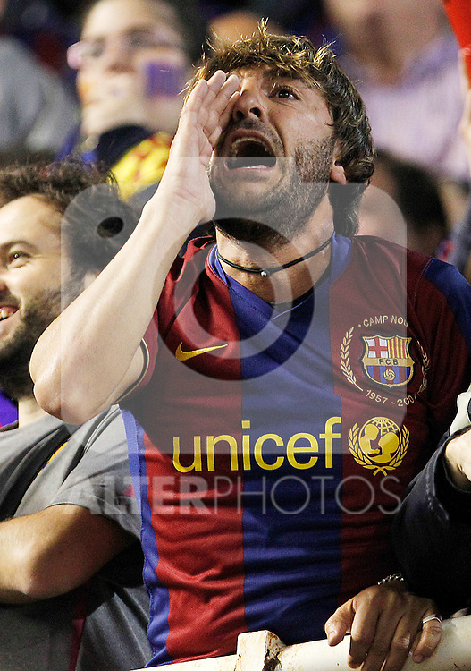 FC Barcelona's supporter during King's Cup 2001 Final match.April 20,2011. (ALTERPHOTOS/Acero)