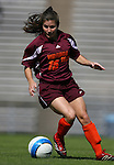 Virginia Tech's Mary Elizabeth Newton on Sunday, October 15th, 2006 at Fetzer Field in Chapel Hill, North Carolina. The University of North Carolina Tarheels defeated the Virginia Tech Hokies 1-0 in an Atlantic Coast Conference NCAA Division I Women's Soccer game.