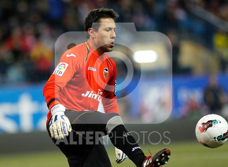 Madrid (05/02/2012) LIGA BBVA.Atletico de Madrid- Valencia C.F..DIEGO ALVES.....
