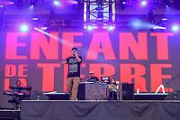 Samian performs at the Festival d'ete de Quebec (Quebec City Summer Festival) Thursday July 16, 2015.
