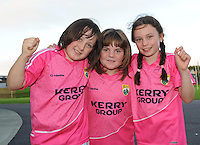 Kerry football fans Millie Byrne, Maggie O'Neill and Elida Buckley, Ballybunion,  are looking forward to the All Ireland semi-final against Dublin on Sunday.  Picture: Eamonn Keogh (MacMonagle, Killarney)