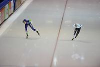 SCHAATSEN: HEERENVEEN: IJsstadion Thialf, 12-02-15, World Single Distances Speed Skating Championships, Jorrit Bergsma (NED), Bart Swings (BEL), ©foto Martin de Jong