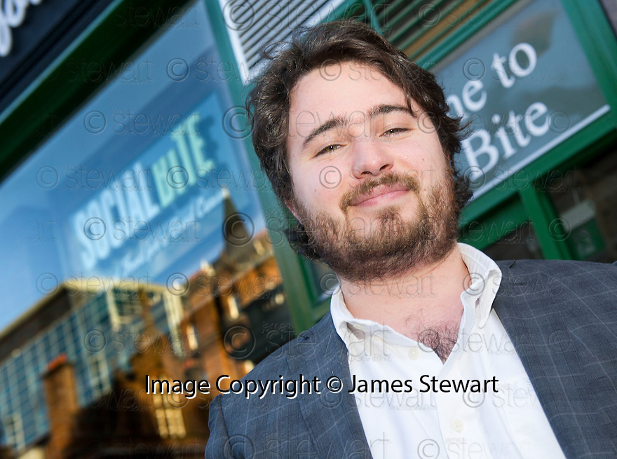 Josh Littlejohn, co-owner of the Social Bite chain of cafes, who is bringing George Clooney to Scotland.