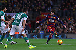 30.12.2015 Barcelona. La Liga , day 17. Picture show Sergi Roberto in action during game between FC Barcelona against Betis at Camp Nou