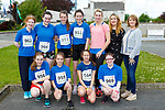 Danille Flynn, Cara Fleming, Mia Key Ali O'Day. Back row: Mary Keane Celia McMahon, Fiona Brosnan, Emma Buckley, Siobhain Fleming, Kate McSweeney and Margaret Hanafin Principal who ran in the Currow Reader to 3k run on Friday
