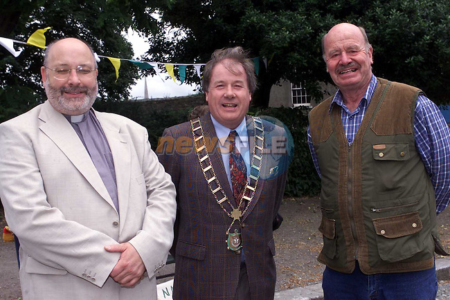 Rev Michael Grahan Frank Godfrey and Henry Smith at the Church of Ireland Fair in St Peters.Picture Fran Caffrey Newsfile
