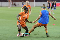 Houston, TX - Saturday July 22, 2017: Nichelle Prince during warm ups prior to a regular season National Women's Soccer League (NWSL) match between the Houston Dash and the Boston Breakers at BBVA Compass Stadium.