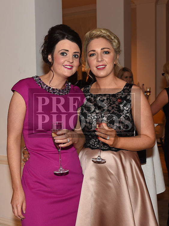 Amanda Casey and Brenda Maguire pictured at the Ardee Traders annual awards night in the Nuremore Hotel. Photo:Colin Bell/pressphotos.ie