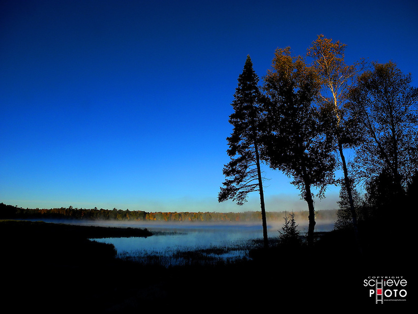 Morning light on Spider Lake in northern Wisconsin.