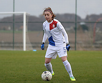 20140209 - TUBIZE , BELGIUM : Dutch Danielle Kuikstra pictured during a friendly soccer match between the Under 19 ( U19) women teams of Belgium and The Netherlands , Sunday 9 February 2014 in Tubize . PHOTO DAVID CATRY
