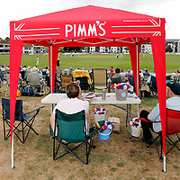 Pimms tent looks on during the County Championship Division 2 game between Kent and Leicestershire at the St Lawrence ground, Canterbury, on Sun July 22, 2018