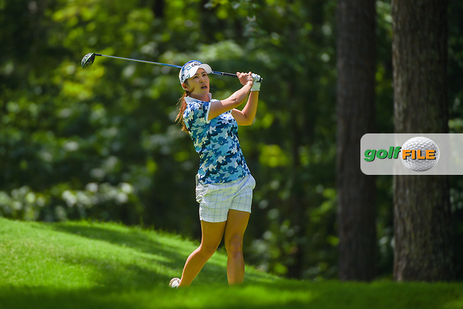 Jihyun Kim (KOR) watches her tee shot on 2 during round 3 of the U.S. Women's Open Championship, Shoal Creek Country Club, at Birmingham, Alabama, USA. 6/2/2018.<br /> Picture: Golffile | Ken Murray<br /> <br /> All photo usage must carry mandatory copyright credit (© Golffile | Ken Murray)