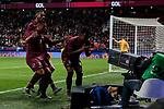 Venezuela's Enzo Perez celebrates goal during International Adidas Cup match between Argentina and Venezuela at Wanda Metropolitano Stadium in Madrid, Spain. March 22, 2019. (ALTERPHOTOS/A. Perez Meca)