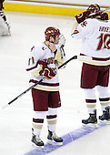 Pat Mullane (BC - 11) - The Boston College Eagles defeated the University of Massachusetts-Amherst Minutemen 6-5 on Friday, March 12, 2010, in the opening game of their Hockey East Quarterfinal matchup at Conte Forum in Chestnut Hill, Massachusetts.