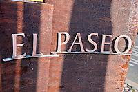 El Paseo Drive, Palm Desert, CA, Art Sculpture, Sign, Marker, Shopping, shops,  statue, Public Art, Statues, CA; California;