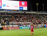Carson, CA - Sunday January 28, 2018: Kelyn Rowe, USMNT, American Outlaws, fans during an international friendly between the men's national teams of the United States (USA) and Bosnia and Herzegovina (BIH) at the StubHub Center.