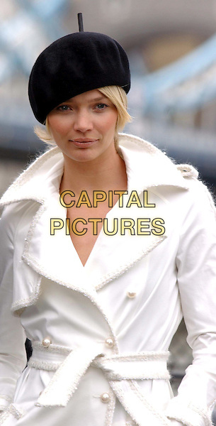 JODIE KIDD.launches EuroMillions - Europe's biggest ever lottery draw at the Tower of London.5 February 2004.half length, half-length, beret, hat.www.capitalpictures.com.sales@capitalpictures.com.©Capital Pictures..