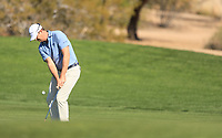 2nd February 2020, TPC Scottsdale, Arizona, USA;  Hudson Swafford hits an approach shot on the second hole during the final round of the Waste Management Phoenix Open
