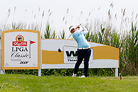 Sherman Santiwiwatthanaphong (Thailand) tees off on the 3rd hole  during the final round of the ShopRite LPGA Classic presented by Acer, Seaview Bay Club, Galloway, New Jersey, USA. 6/10/18.<br /> Picture: Golffile | Brian Spurlock<br /> <br /> <br /> All photo usage must carry mandatory copyright credit (&copy; Golffile | Brian Spurlock)