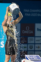 Sarah Sjoestroem of Sweden won the Women's 100m Freestyle competition at the FINA Champions Swim Series at the Danube Arena in Budapest, Hungary on May 11, 2019. ATTILA VOLGYI