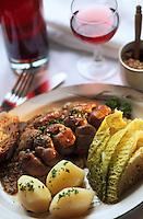 """Europe/France/Ile-de-France/77/Seine-et-Marne/La Ferté-Gaucher: Rognons à la moutarde de Meaux - Recette d'Alain Renault de l'hôtel-restaurant """"Le Bois Frais"""""""