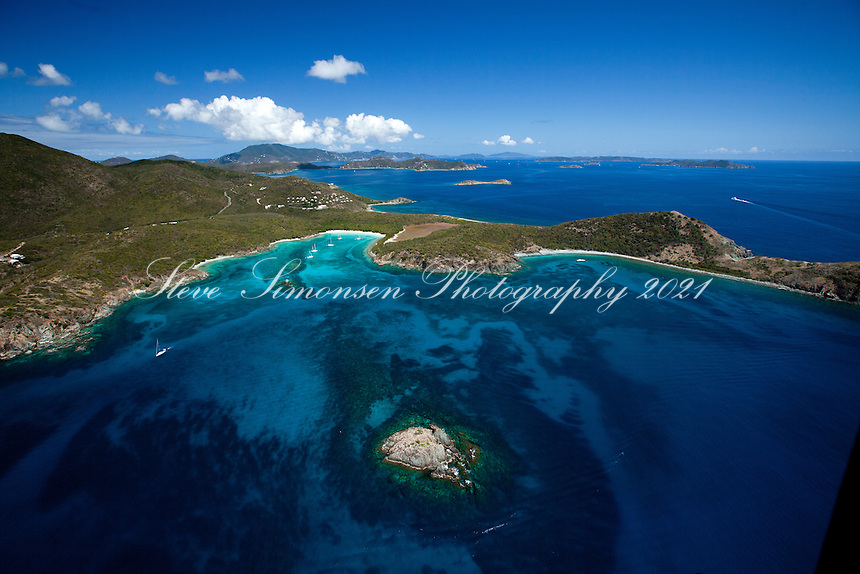 Salt Pond Bay and Booby Rocks.Virgin Islands National Park.St. John.U.S. Virgin Islands