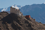 LEH, LADAKH, HIMALAYA, INDIA - OCTOBER 05, 2009: Leh was the capital of the Himalayan kingdom of Ladakh. It lies at an altitude of 3,505 m above sea level and is overlooked by the Royal Palace.