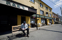 South Kerry Independent TD Jackie Healy-Rae pictured outside the pub in Kilgarvan in County Kerry which is now run by his son Danny.<br /> Picture by Don MacMonagle