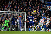 Max Meyer of Crystal Palace curls a shot over the Chelsea goal during Chelsea vs Crystal Palace, Premier League Football at Stamford Bridge on 4th November 2018