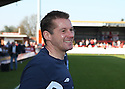 Stevenage manager Graham Westley celebrates winning promotion after the Blue Square Premier match between Kidderminster Harriers and Stevenage Borough at the Aggborough Stadium, Kidderminster on Saturday 17th April, 2010..© Kevin Coleman 2010