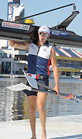 Poznan, POLAND, GBR LM1XAdam FREEMAN PASK, Friday mornings training session as she prepare for the 2009 FISA World Rowing Championships. held on the Malta Rowing lake, Friday  21/08/2009 [Mandatory Credit. Peter Spurrier/Intersport Images]