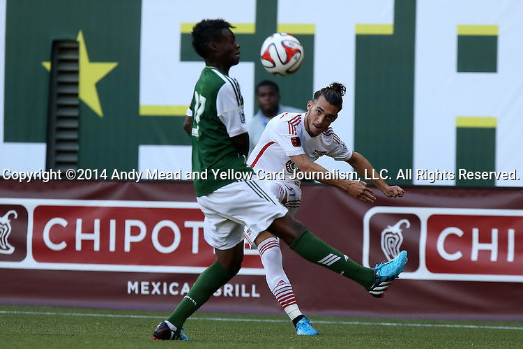04 August 2014: MLS Homegrown's Russell Teibert (CAN) (right). The Chipotle MLS Homegrown Game was played as part of the Major League All-Star Game week events. The MLS Homegrown players played the Portland Timbers U-23 team at Providence Park in Portland, Oregon.