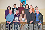 "Ballylongford Book Launch :Members of the  McAuliffe and Kennelly families attending  the launch of Nancy McAuliffe's  book ""Ballylonford A Photographic Memoir"" at the Eddie Carmody Memorial Hall, Ballylongford on Friday night last.Front : Alan & Brenda Kennelly, Nancy McAuliffe, Fr. John Kennelly & Paddy Kennelly.  Back Mary, Jack, Liam Bridget, Nonnie & Daniel McAukiffe."