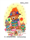 GIORDANO, CUTE ANIMALS, LUSTIGE TIERE, ANIMALITOS DIVERTIDOS, Teddies, paintings+++++,USGI1613,#AC# teddy bears