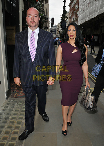 """Jonathan Sothcott and Janine Nerissa at the """"The Gatekeeper"""" by Russ Kane book launch party, The Wellington Club, Jermyn Street, London, England, UK, on Thursday 30th May 2019.<br /> CAP/CAN<br /> ©CAN/Capital Pictures"""