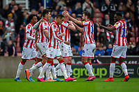 7th March 2020; Bet365 Stadium, Stoke, Staffordshire, England; English Championship Football, Stoke City versus Hull City; Sam Clucas of Stoke City celebrates after scoring a goal to put Stoke ahead 4-1