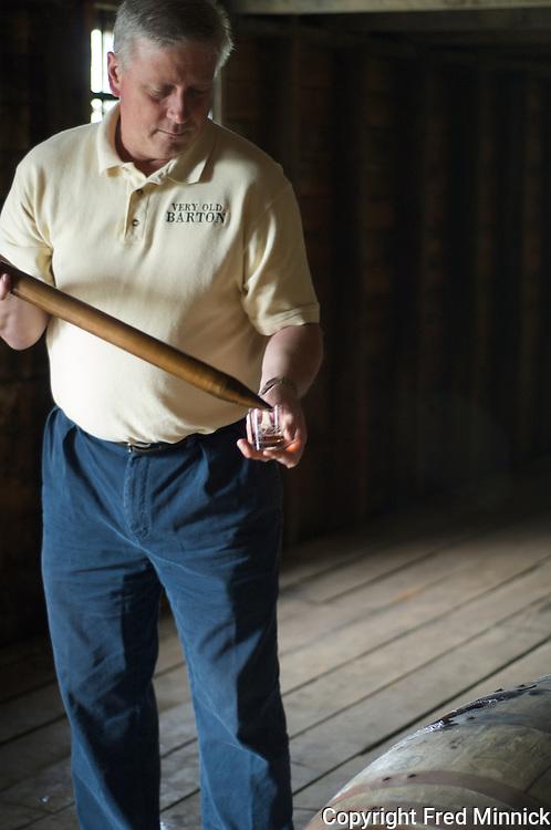Chief Chemist Ken Pierce of 1792 Ridgemont Reserve Bourbon at the Tom Moore Distillery in Bardstown, Ky.