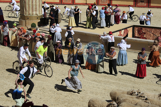 Team Presentation at Le Puy du Fou theme park before the start of the 2011 Tour de France, 30th June 2011 (Photo by Eoin Clarke/NEWSFILE)