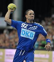 Handball - All Star Game 2014 am 01.02.2014 in der Arena Leipzig (Sachsen). Wie bereits in den Vorjahren misst sich die Handball Nationalmannschaft mit einer Auswahl von Spielern der DKB Handball-Bundesliga. <br /> IM BILD: Raul Santos (Allstar) <br /> Foto: Christian Nitsche