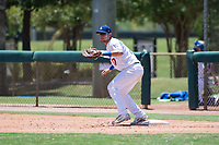 AZL Dodgers first baseman Marco Hernandez (17) during an Arizona League game against the AZL Padres 2 at Camelback Ranch on July 4, 2018 in Glendale, Arizona. The AZL Dodgers defeated the AZL Padres 2 9-8. (Zachary Lucy/Four Seam Images)